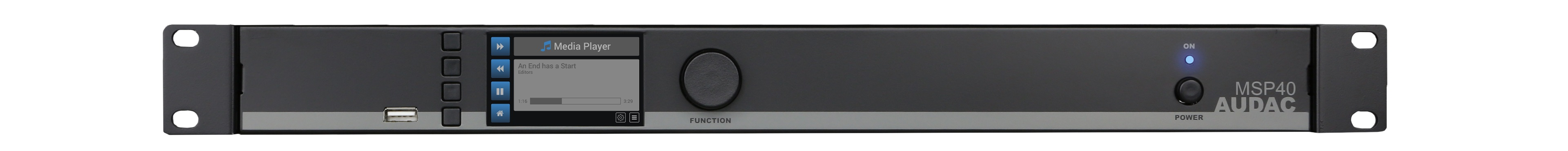 Audac media player og recorder