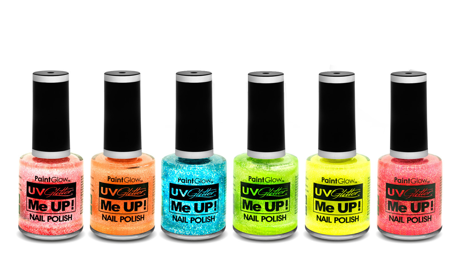 Neon UV Glitter neglelak Mint Green