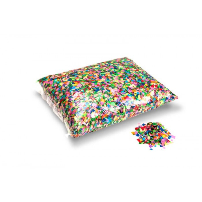 Image of   Papir konfetti - Firkantet 6X6 mm. Hvid