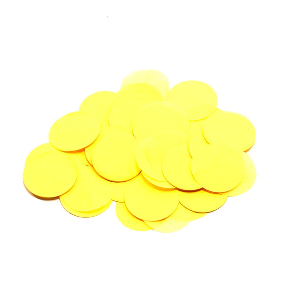 Image of   Papir konfetti - Rund 42 mm. Gul