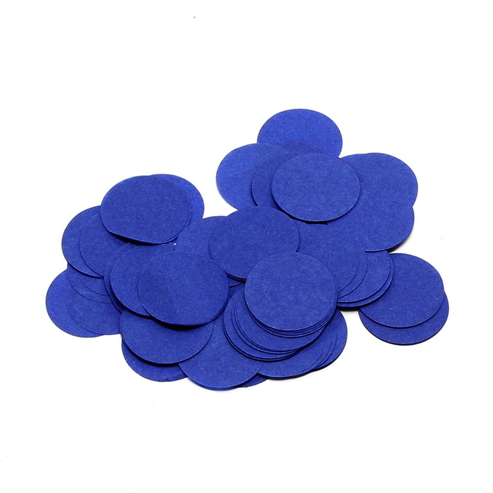 Image of   Papir konfetti - Rund 42 mm. Mørk Blå