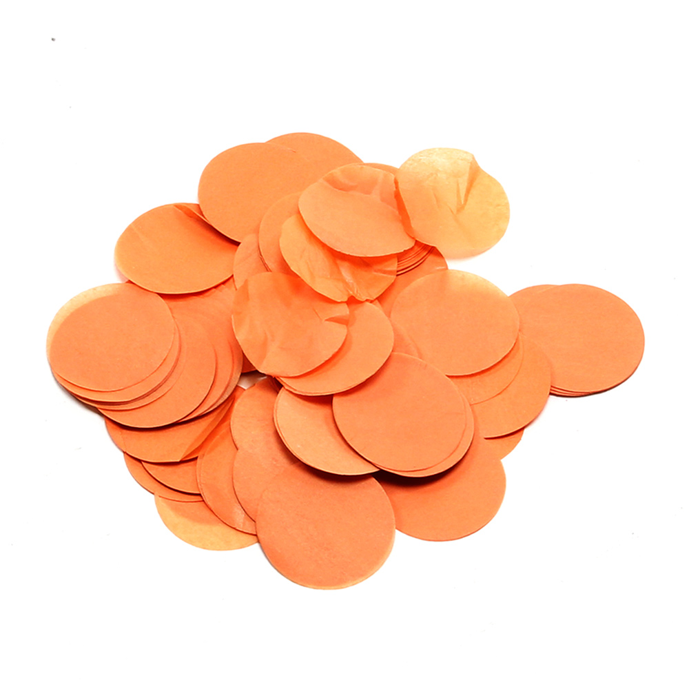 Image of   Papir konfetti - Rund 55 mm. Orange