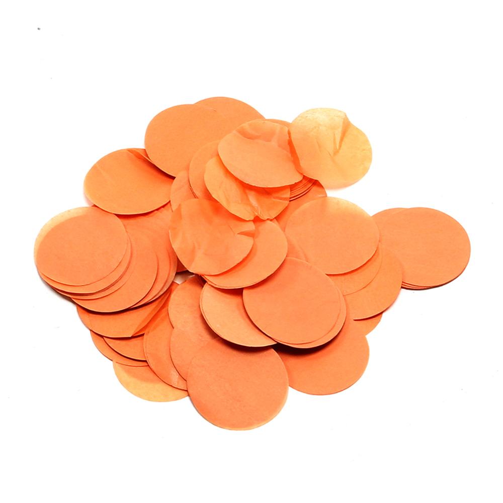 Image of   Papir konfetti - Rund 42 mm. Orange