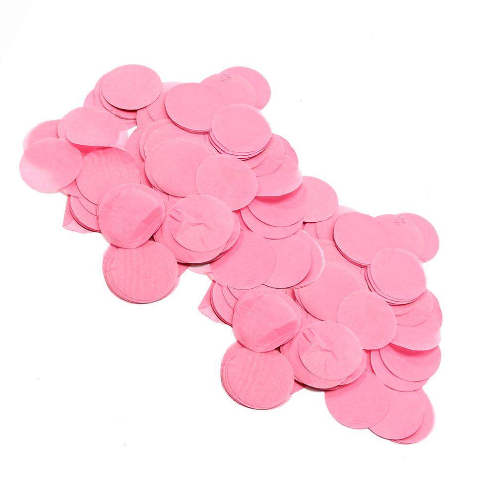 Image of   Papir konfetti - Rund 55 mm. Pink