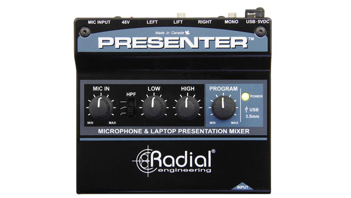 Radial Presenter Av Presentation Interface W/ Usb, 3,5Mm & Mic Ins, Stereo