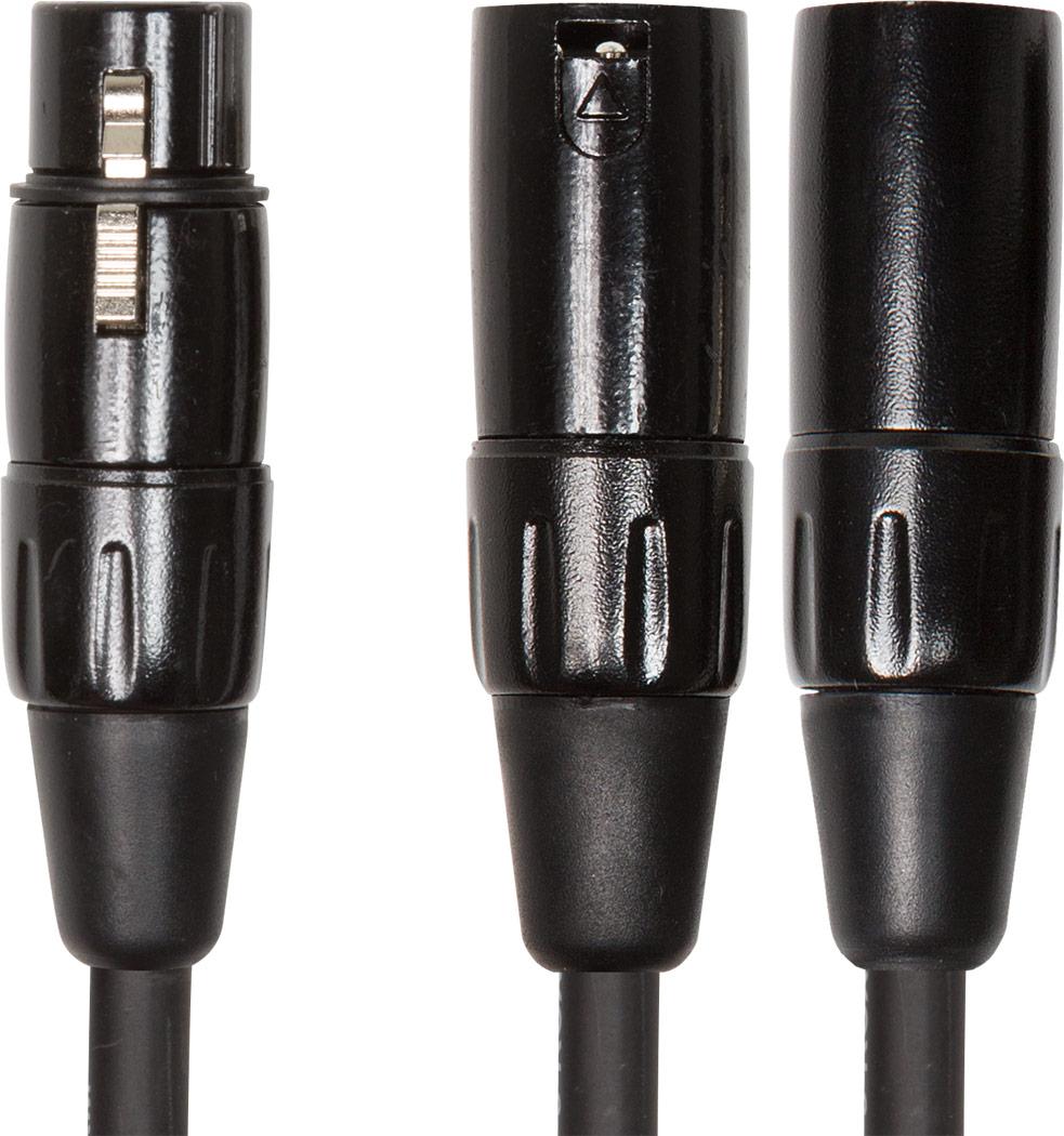 Roland kabel Y-kabel XLR- hun til XLR Han 15 cm