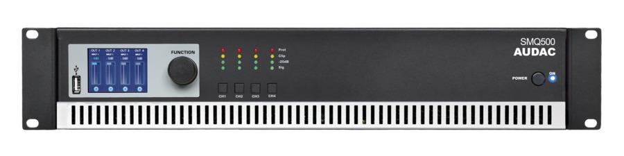 Audac SMQ500 forstærker 4 x 500W 4 Ohm