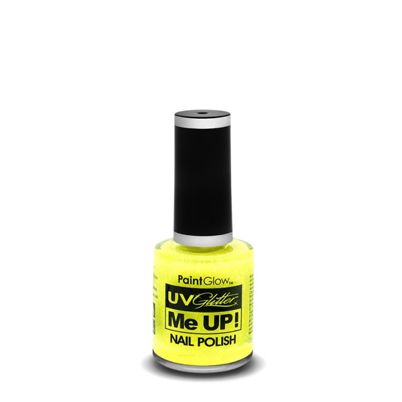 Image of   Neon UV Glitter neglelak Sherbet Lemon