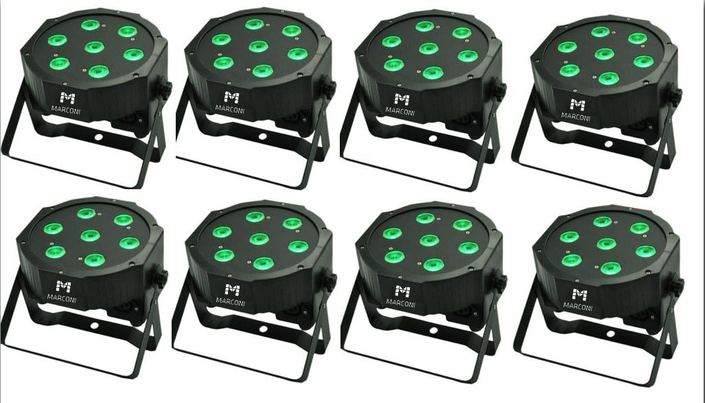 Image of   8 x Marconi LED spot 7x10W RGBW