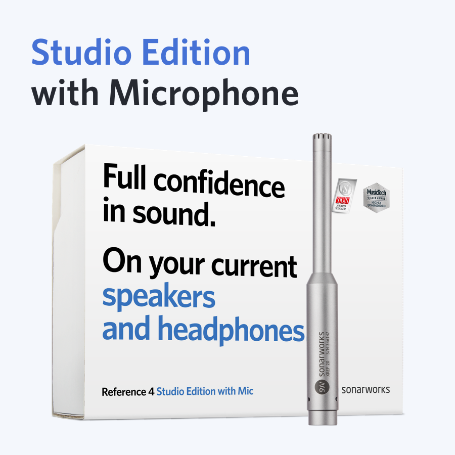 Image of   Sonarworks Reference 4 Studio edition with mic - boxed
