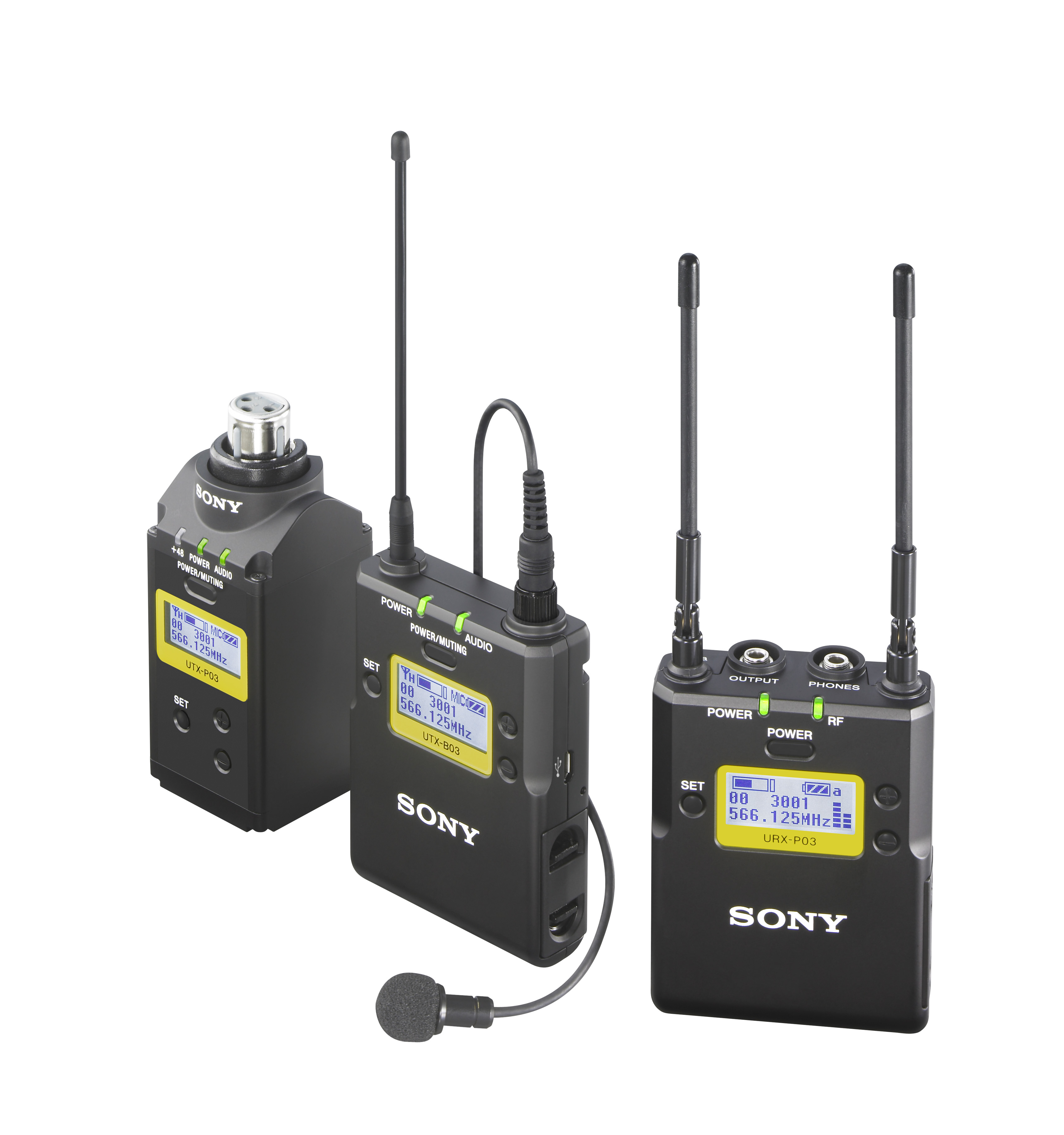 Sony UWP-D16/K33 belt pack and plug on wireless set