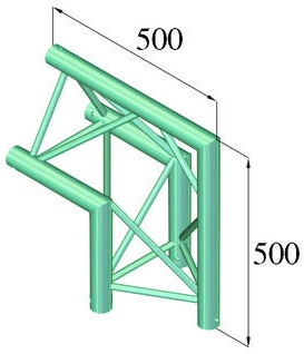 Image of   Alutruss TRILOCK 6082AC-24 2-way corner 90° /\