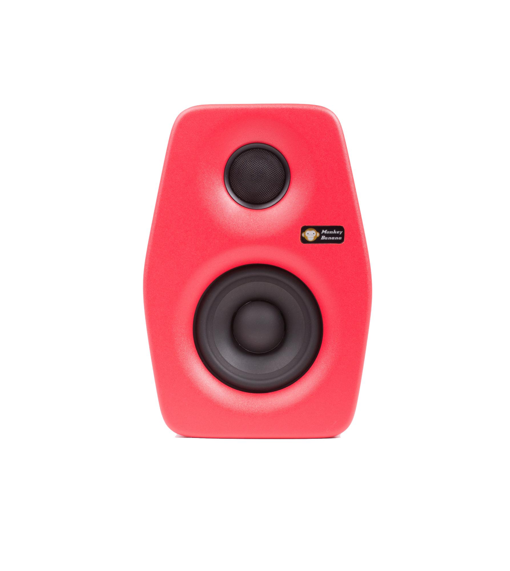 Image of   Monkey Banana Turbo 4 studie højttaler, rød