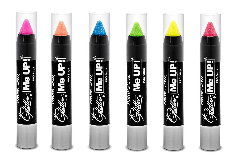 UV Glitter ansigts- og kropsmaling stift Candy Pink
