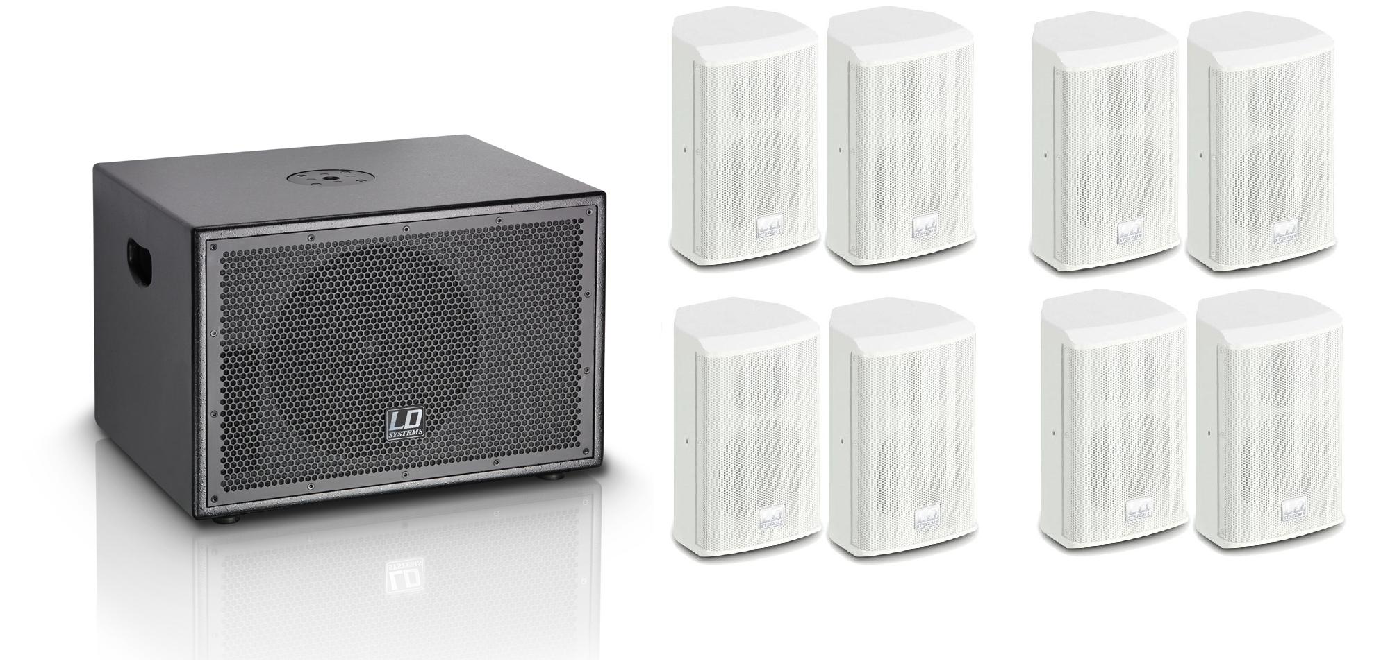 LD Systems SAT42/SUB10A Hvid Pakke