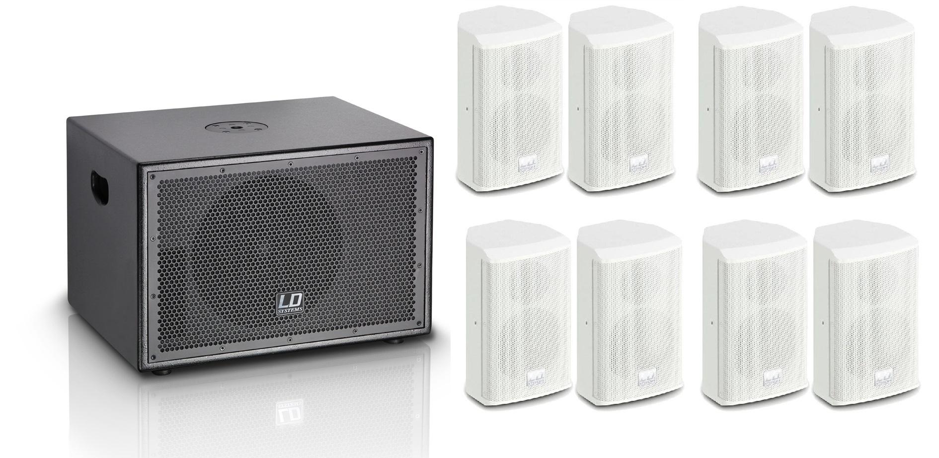 LD Systems SAT62/SUB10A Hvid Pakke