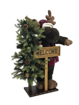 Image of   Christmas moose, standing, 100cm