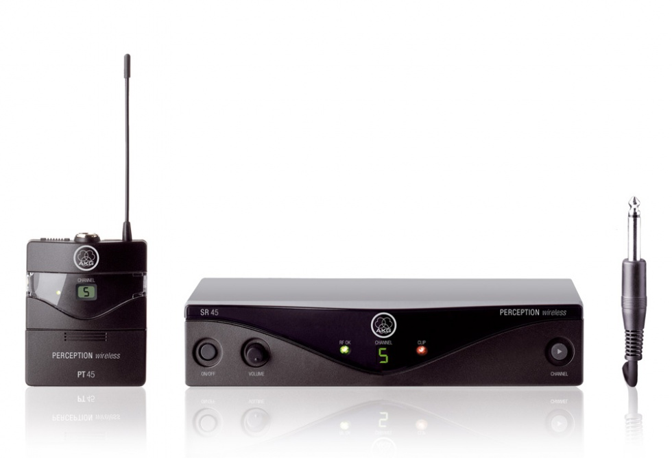 AKG WMS45 trådløst instrumentsystem Frekvensbåndbredde A (530 - 560 MHz)