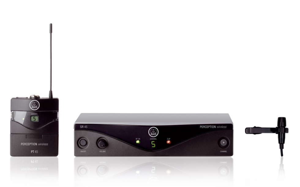 AKG WMS45 Trådløst presentersystem Frekvensbåndbredde M, (823-832 Mhz)