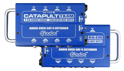 Radial Radial Catapult Rx4 - 4Ch Receiver, With Balanced Outs, Uses Shielded