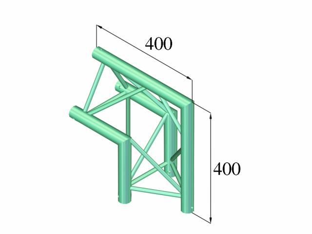 Image of   Alutruss DECOLOCK DQ3-PAC24 2-way corner 90°