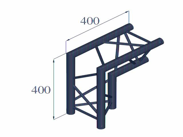Alutruss DECOLOCK DQ3-PAC25 2-way corner 90°