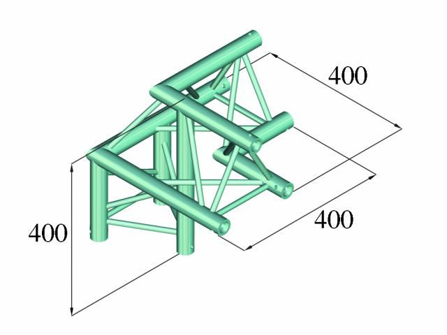 Image of   Alutruss DECOLOCK DQ3-PAL31 3-way corner 90°