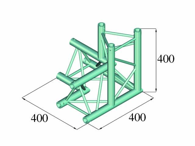 Image of   Alutruss DECOLOCK DQ3-PAL34 3-way corner 90°