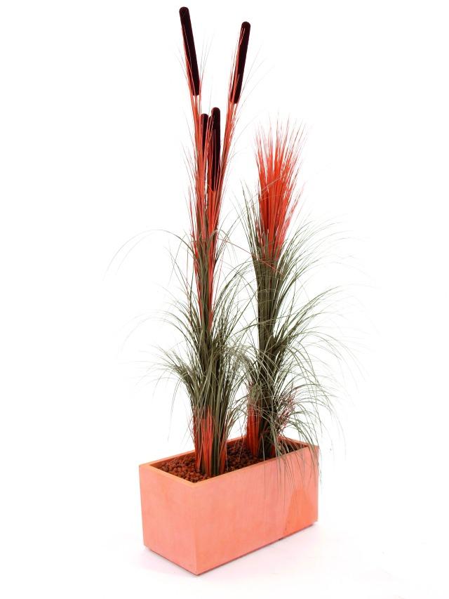 Billede af Kunstig Reed grass, light brown, 127cm