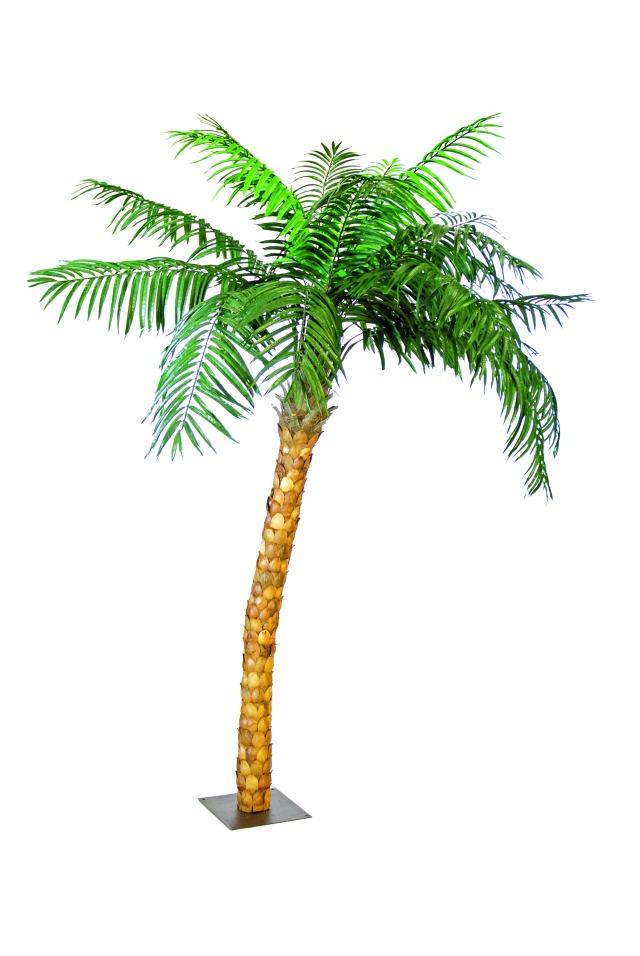 Image of   Kunstig Coconut tree with flexible trunk, 320 cm