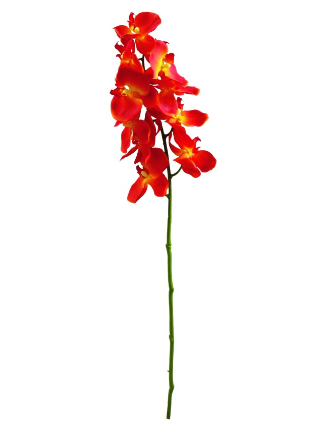 Kunstig  Orchidspray, orange, 70cm