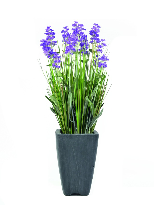 Kunstig  Lavender, purple, in pot, 45cm