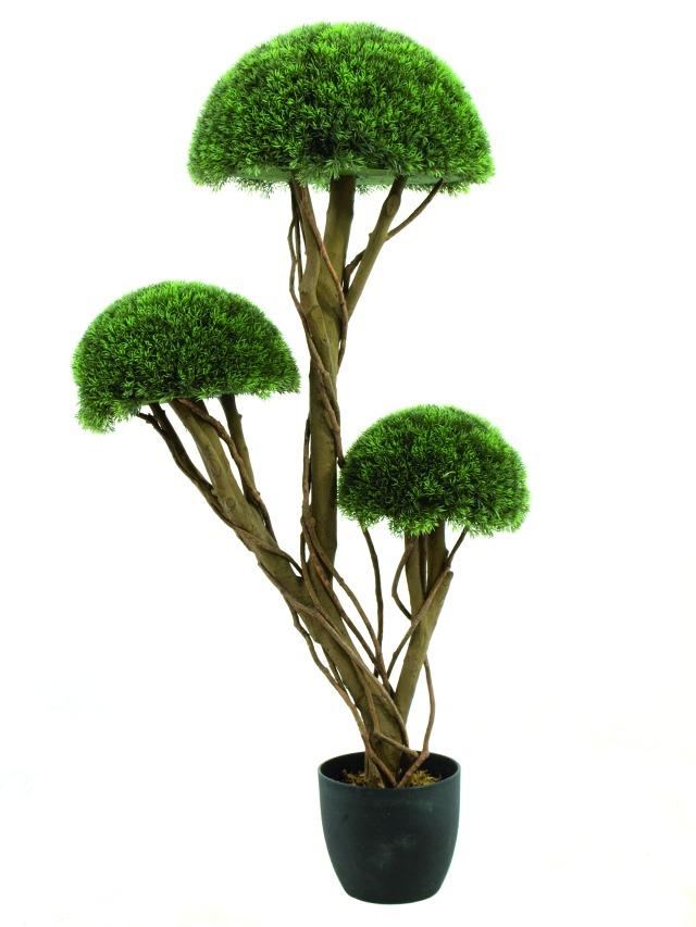Image of   Kunstig Grass half ball tree, 126cm