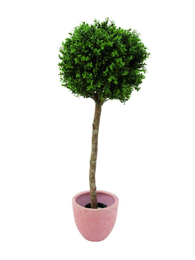 Image of   Kunstig Plastic boxwoodball tree, 110cm