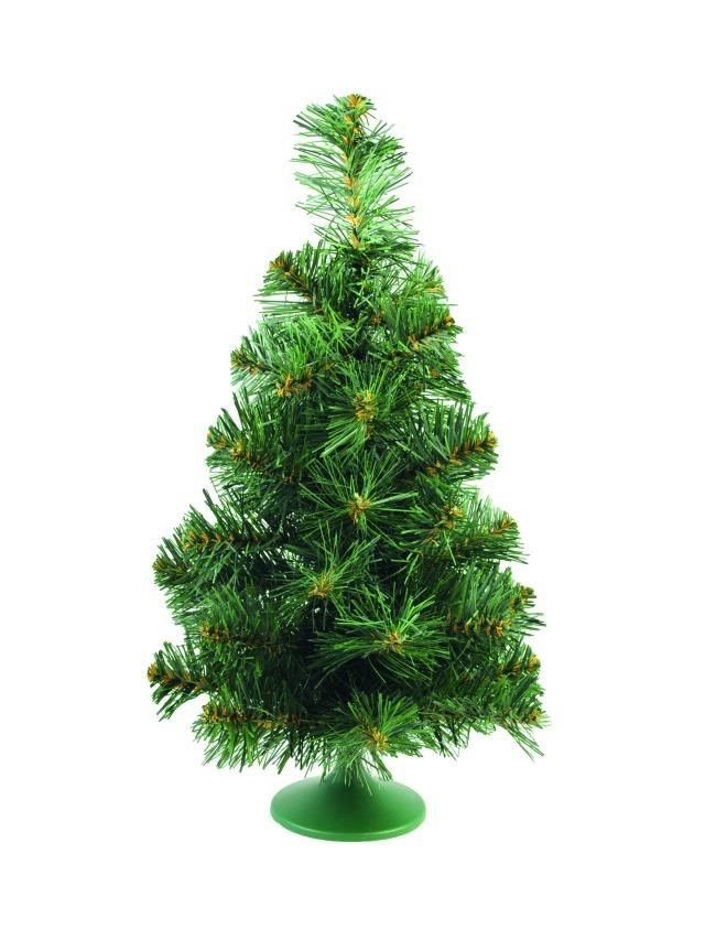 Billede af Table christmas tree, green-white, 45cm