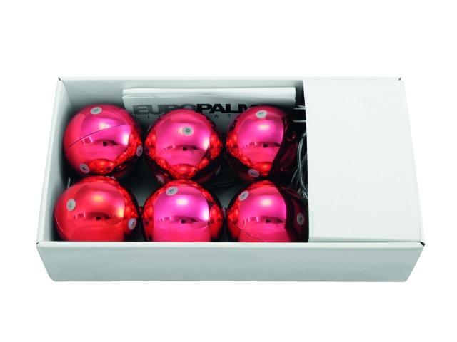 Billede af LED Christmas Ball 6cm, red (6 pcs)