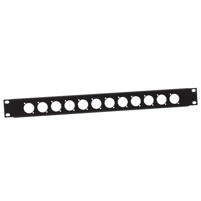 Image of   Adam Hall 872213 U-formet Rack Panel 1 Unit til 12 D-Type Chassis