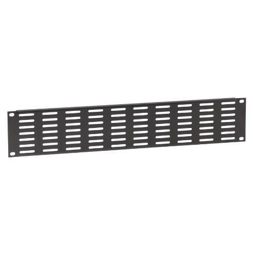 Image of   Adam Hall 87222 VH U-formet Ventilation Rack Panel 2 Unit stål