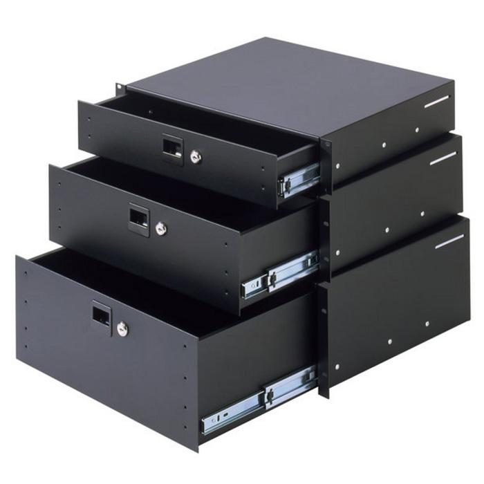 Adam Hall 87402 A Rack Skuffe 2 Unit aluminium (3 kg)