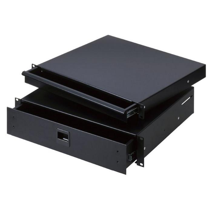Adam Hall 87402 E Rack Skuffe 2 Unit stål (7,9 kg)