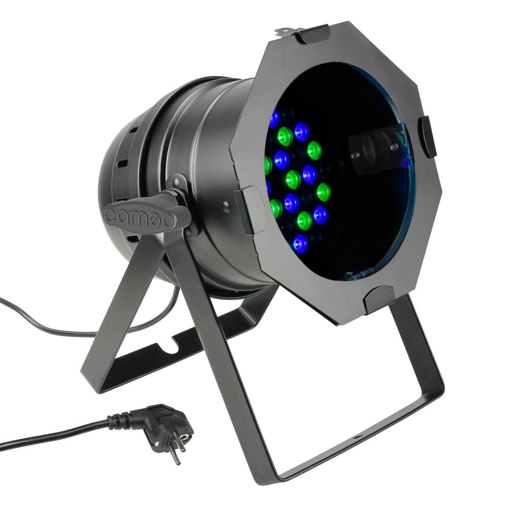 Cameo PAR 64 CAN 36x3W RGB Sort