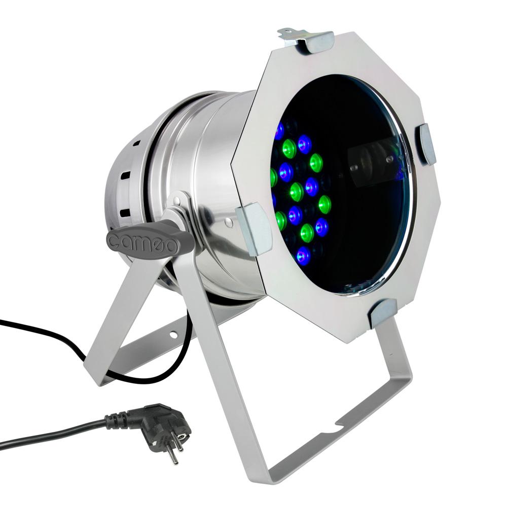 Cameo PAR 64 CAN 36x3W RGB Sølv