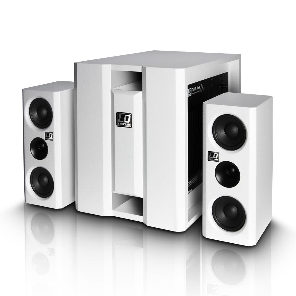 LD Systems DAVE 8 XS Hvid Aktiv Lydanlæg