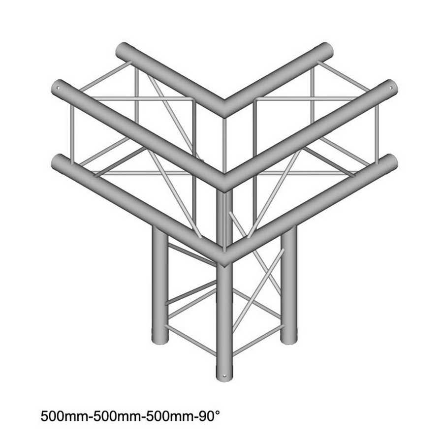 DuraTruss DT 24-C30-L90 90° corner + down 50cm
