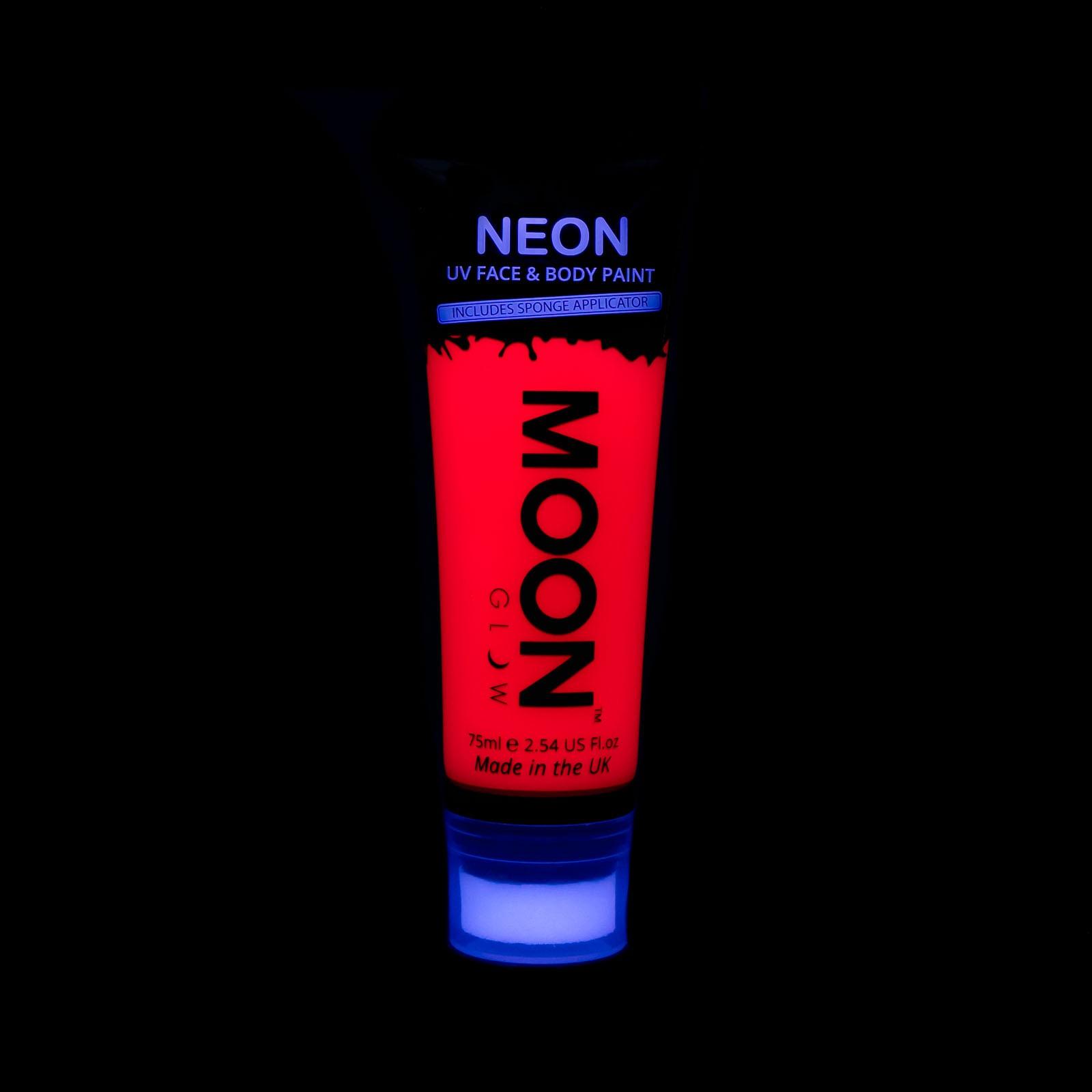 Image of   UV maling til kroppen og ansigtet 75 ml. Rød