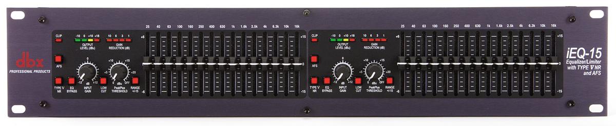 dbx iEQ15 2 x 15 Bånd Grafisk Equalizer/Limiter/Feedback