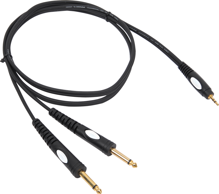 Image of   Adapter Kabel 3,5mm Jack Stereo til 2 x 6.3 mm Jack mono