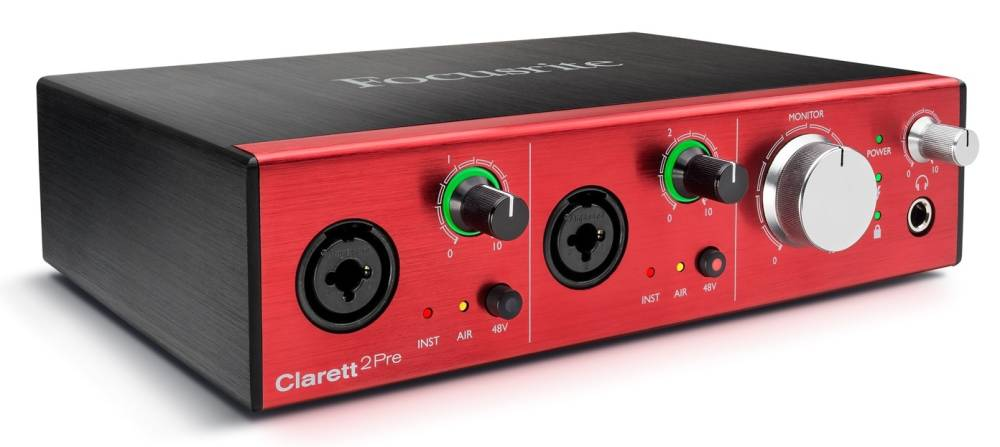 Image of   Focusrite Clarett 2Pre Firewire Lydkort