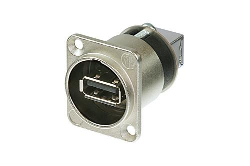 Billede af Neutrik Chassis Stik USB Sølv