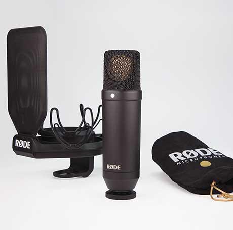Image of   Røde NT1-KIT Studiomikrofon m/ Rycote SMR ophæng/popfilter